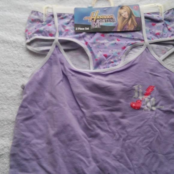 Disney Other - Girls 2pc Hanna Montana Bra/Pantie set.